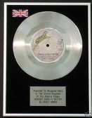 "Carly Simon -  7"" Platinum Disc -  Nobody Does it Better"